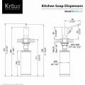 Дозатор моющего средства KSD-41CH Kraus