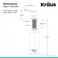 Дозатор моющего средства MYLO KSD-51SFS Kraus