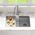 Кухонная мойка нижнего монтажа из композитного гранита BELLUCCI WORKSTATION KRAUS KGUW1-33WH