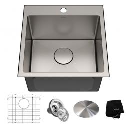 Кухонная мойка верхнего и нижнего монтажа, KHT301-18