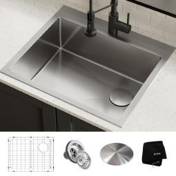 Кухонная мойка верхнего и нижнего монтажа, KHT411-25