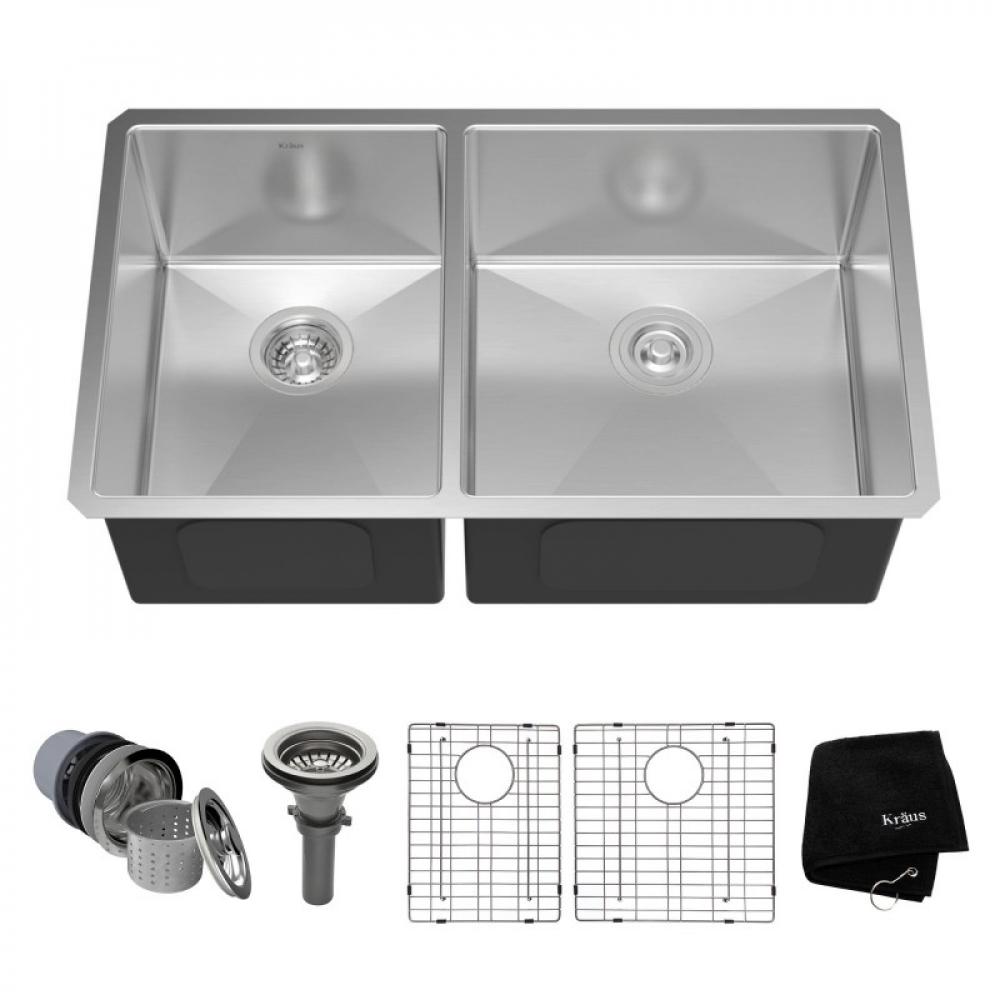 Мойка кухонная стальная KHU104-33 STANDART PRO Kraus