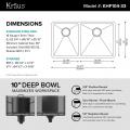 Мойка кухонная стальная KHU104-33 PRECISION Kraus