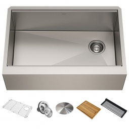 Кухонная мойка Kore KWF410-30 с передним фартуком нижнего монтажа, WORKSTATION