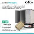 Кухонная мойка нижнего монтажа из композитного гранита BELLUCCI WORKSTATION KRAUS KGUW1-30WH