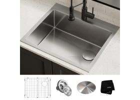 Кухонная мойка LOFTEN верхнего и нижнего монтажа, KHT411-25