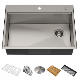 Кухонная мойка KWT310-30 верхнего и нижнего монтажа, WORKSTATION