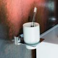 Керамический стакан с настенным держателем Kraus Fortis KEA-13304CH