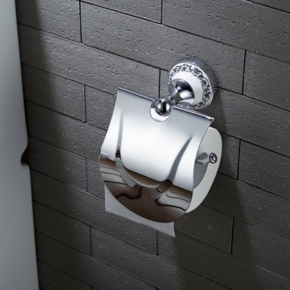 Держатель туалетной бумаги с крышкой Apollo KEA-16526CH Kraus