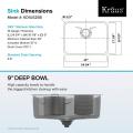 Мойка кухонная стальная KD1US25B DEX Kraus
