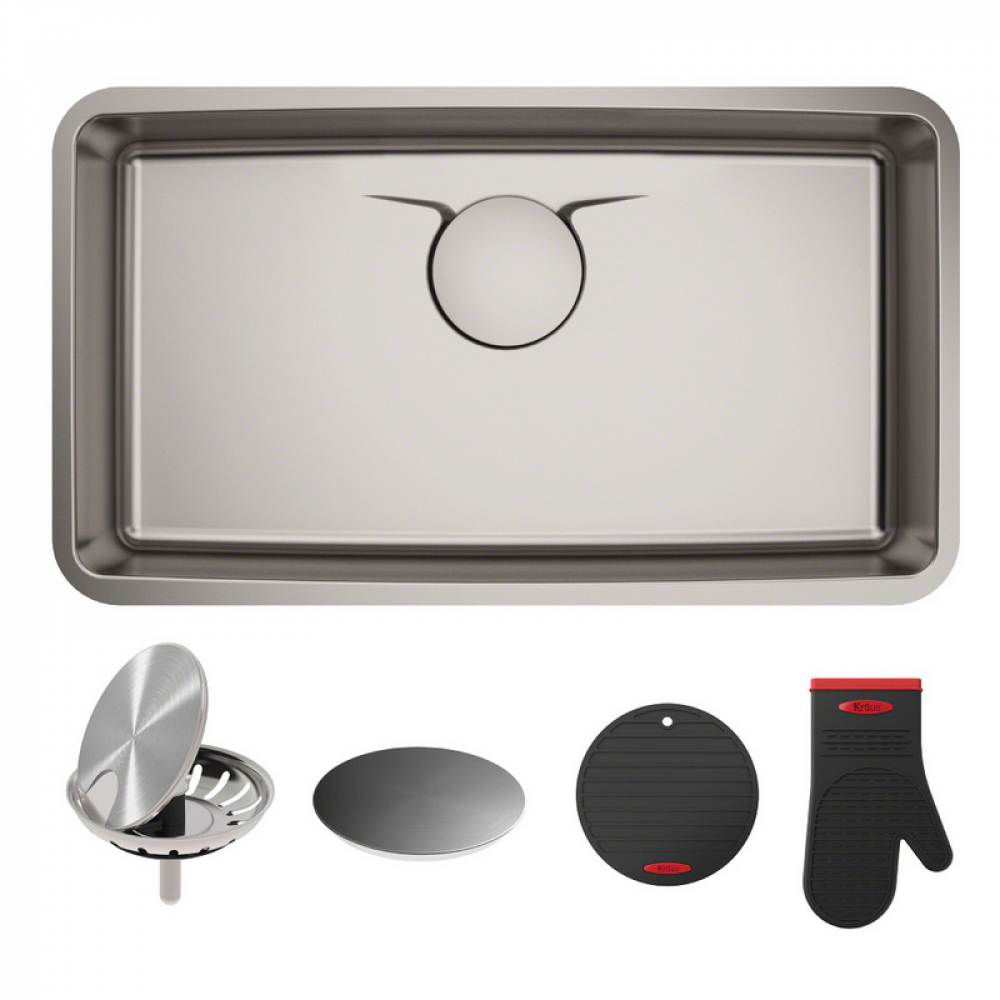 Мойка кухонная стальная KD1US33B DEX Kraus